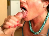 CFNM  (clothed female naked male) - Blow Job
